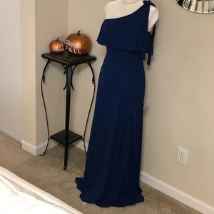 Lulu's Blue One Shoulder Dress Size S